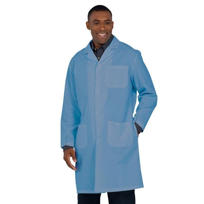 86baae76140 6100 Fashion Seal Healthcare Unisex Microstat System Knee Length Lab Coat -Royal