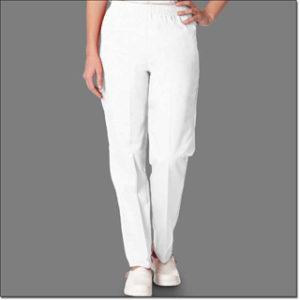 7071 White Ladies Fashion Slack Petites
