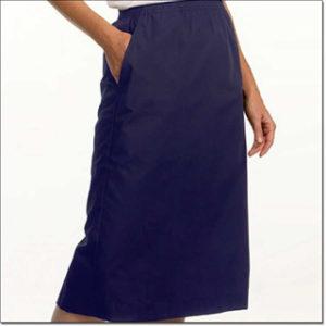7215 Navy Ladies' Elastic Waist Skirt