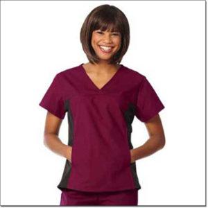 7511 Burgundy/Black Ladies' Side Flex Tunic – Fashion Poplin