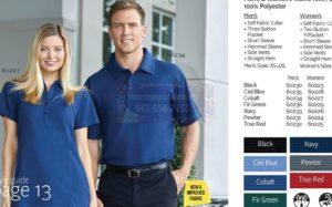 60230-36 Men's Waffle Knit Polos Shirt