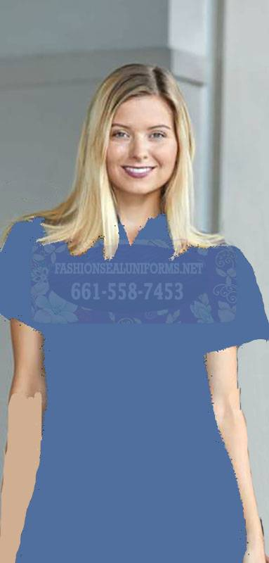 60228 Ciel Blue Women's Waffle Knit Polos 100% Polyester Shirt