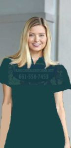 60229 Fir Green Ladies Waffle Knit Polos Shirt