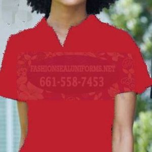 60253 True Red Women's Blended Pique Polos Shirt