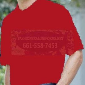 60260 True Red Men's Blended Pique Polos Shirt