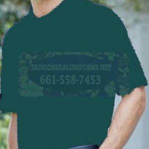 60264 Fir Green Men's Blended Pique Polos Shirt